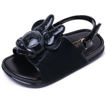 RIAROSA HOT sell summer fashion Sandals for girls  cartoon style soft PVC kids shoes flat heels leather