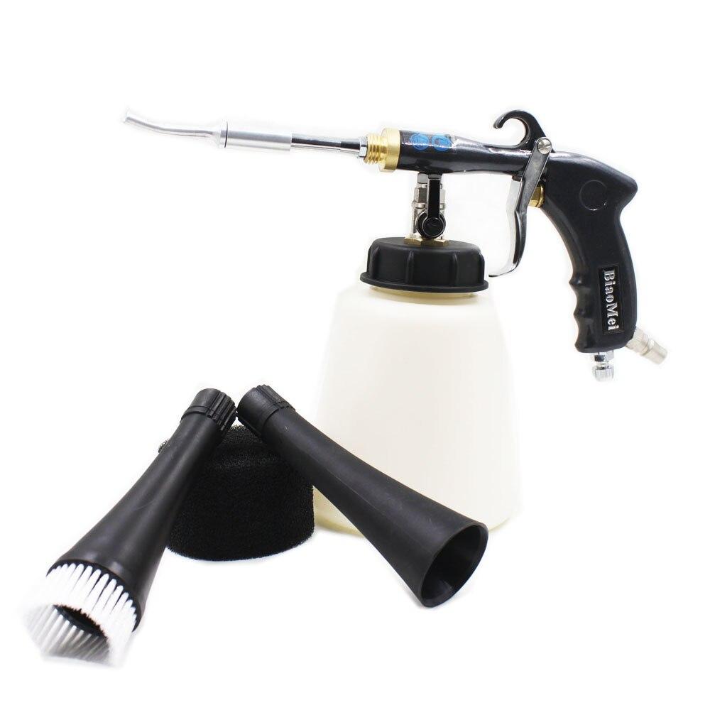 Z-020 regulador de aire aluminio japanes tubo de acero tornado pistola negra para lavado de coches tornado r pistola (1 pistola entera + Accesorios)