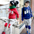 2016 new  autumn and winter children's clothing child clothes sets baby boy  set sport wear jacket +pants kids toddler out wear