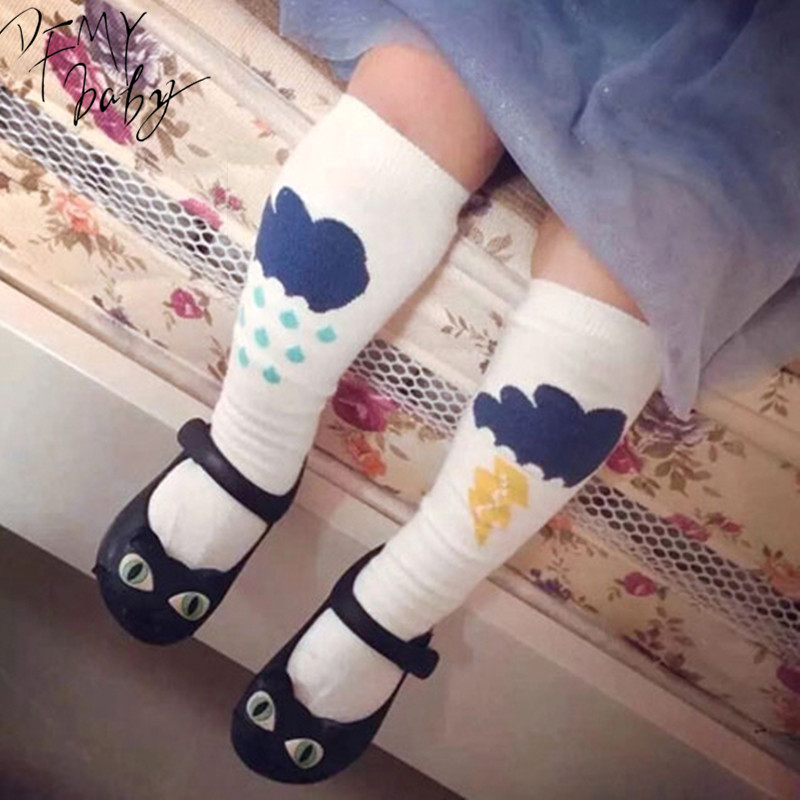 Kids Knee High Socks Brand Designer Children Girls sock Baby Girl Leg Warmers Kids Knee High Kawaii Socks