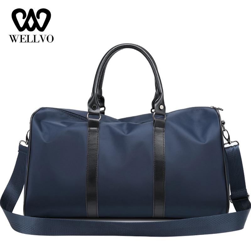 Blue Sports Duffel Bag Overnight Travel Carry On Duffel Bag BORN CHAMPS
