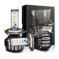 V16 Turbo led 40w 80w 45w 4500lm work light 3600lm H4 hi/lo H1 H3 H7 H10 H11 H13 9005 9006 9007 All in one car led headlight