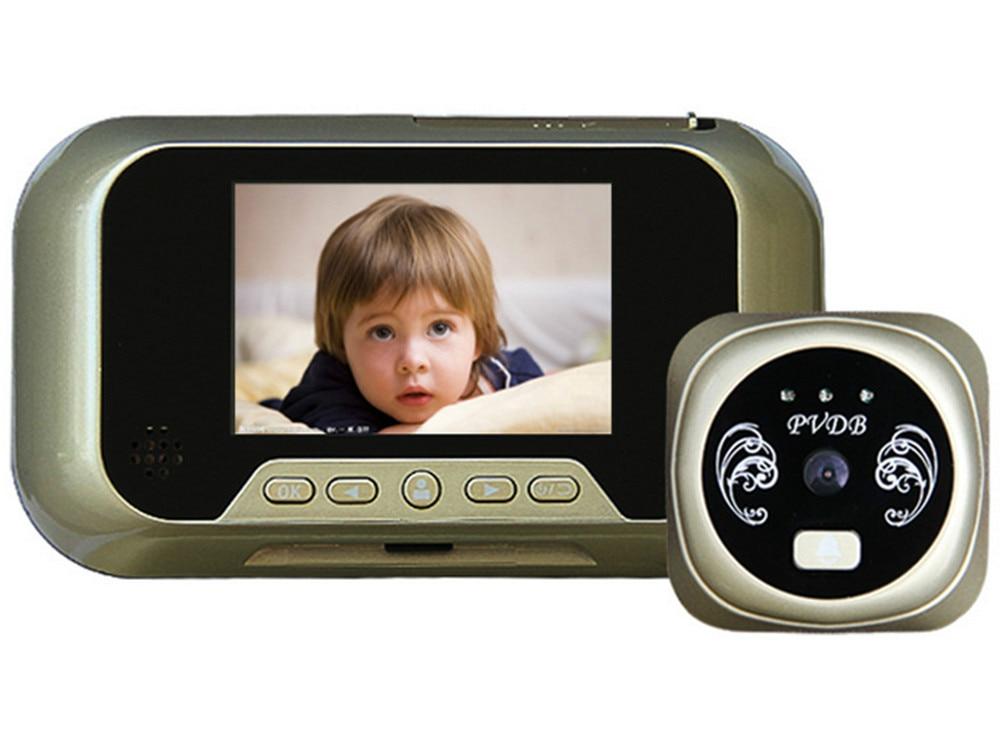 3.0 Inch 3X Zoom IR Night Vision Peephole Viewer Video Door Phone