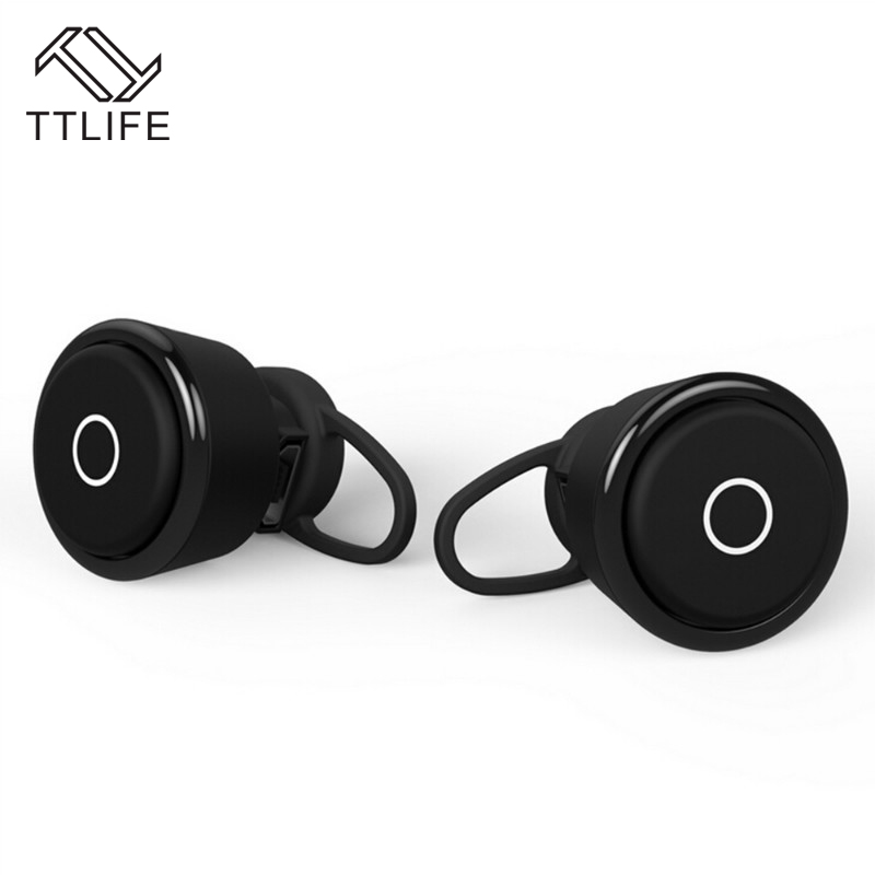 TTLIFE True Wireless HD Calls Bluetooth 4.1 Earphones Stereo Noise Reduction Wireless Headphones with Mic 2 In 1 for Phones k10a bluetooth headset voyager legend headphones stereo handsfree noise reduction bluetooth earphones with storage box