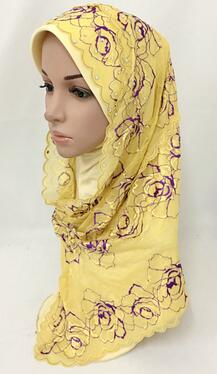 NEW two PIECES muslim hijab fashion islamic convenient wrap hijab inside can be use as one