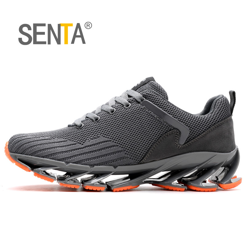 Blade Air Cushion Breathable Running Shoes for Men Antiskid Damping Walking Shoes 2018 Summer Plus Size Sports Shoes Zapatills