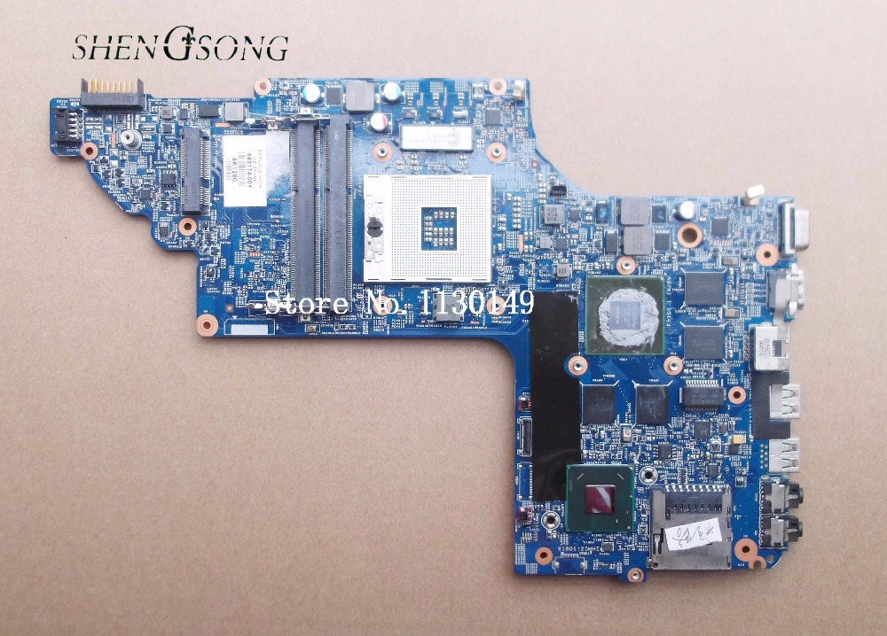 682174-501 682174-001 for HP Pavilion DV6 DV6T DV6-7000 series motherboard with GT650M/2G All functions fully Tested ! fidue a83 reference level 3 unit mixed ring iron earphone champagne gold