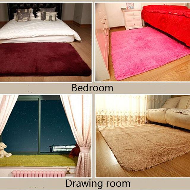 Genial Long Plush Area Rug Bedroom Rugs And Carpet Silky Livingroom Floor Mats  Parlor Mat Bathroom Door