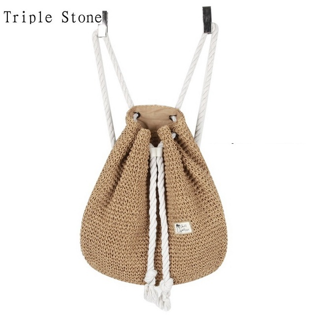 Aliexpress.com : Buy Japanese Style Women Straw Backpack Crocheted ...