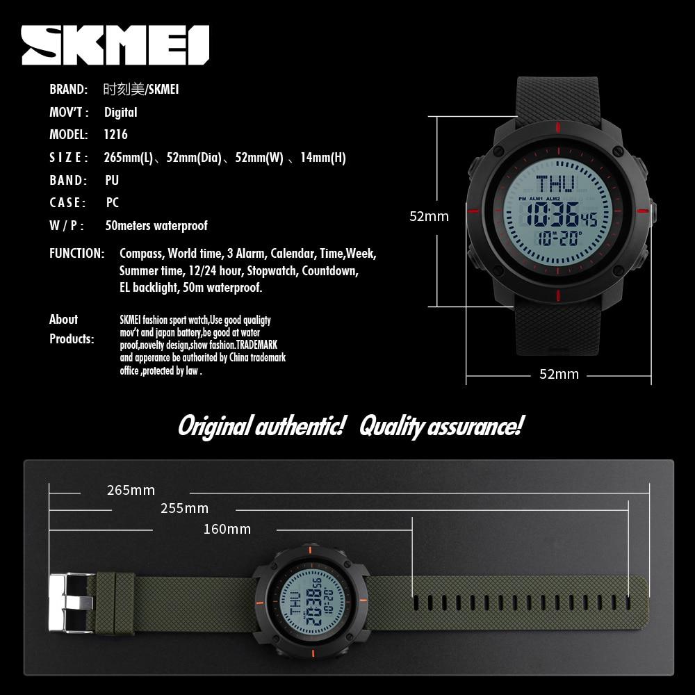 SKMEI Ανδρικά Ρολόγια Αθλητικά Ρολόγια - Ανδρικά ρολόγια - Φωτογραφία 6
