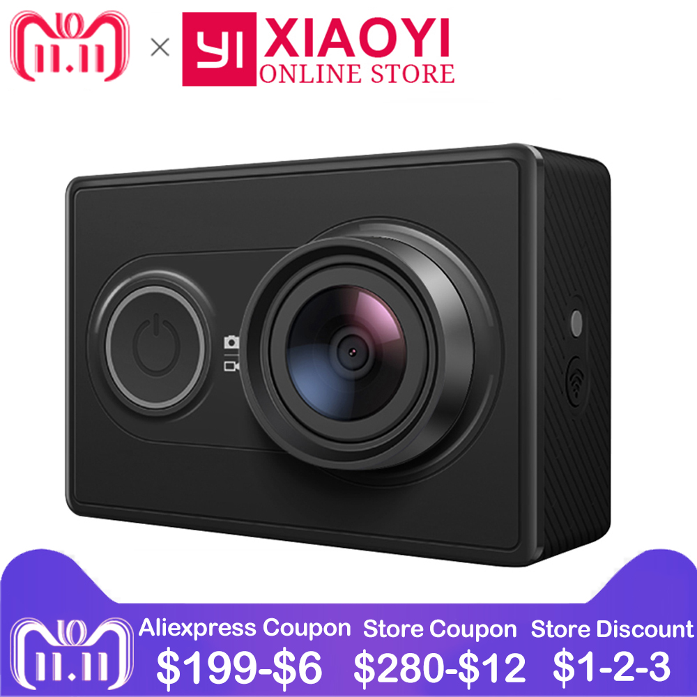 цена на [International Edition]Original Xiaomi YI Action Camera Xiaoyi 1080P Sports Camera WiFi 3D Noise Reduction 16MP 60FPS Ambarella