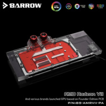 Water-Cooling-Blocks Graphics-Card Radeon Vii Lrc 2.0 Barrow Full-Cover for AMD Founder-Edition