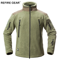 ReFire Gear Winter Thermal Outdoor Hiking Fleece Jackets Men Warm Military Tactical Jackets Coat Male Multi Pockets Army Jackets