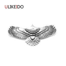 Pure 925 Sterling Silver Jewelry Eagle Charms Pendants Card For Men And Women Thai Silver Birds Necklace Chain Fine Gift 657 недорого