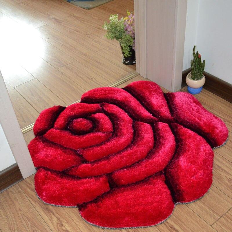 꽃 모양 욕실 카펫 바닥 매트 거실 3d 인쇄 솔리드 도어 매트 바닥 카펫 웨딩 badmat tapetes 욕실 러그-에서욕실 매트부터 홈 & 가든 의  그룹 1
