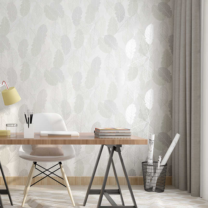 Moderne Abstracte Bladeren Muur Papers Home Improvement Nordic Blad Slaapkamer Behang Rol voor Wanden papel pintado pared