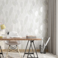 Modern Abstract Leaves Wall Papers Home Improvement Nordic Leaf Bedroom Wallpaper Roll for Walls papel pintado pared