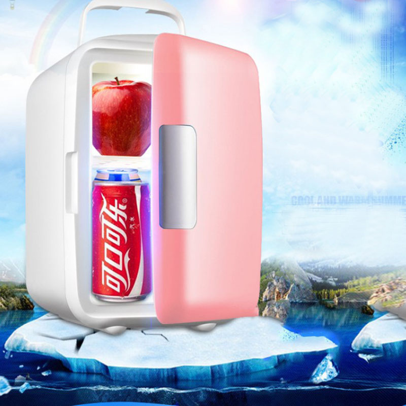 Dual-Use 4L Home Use Refrigerators Ultra Quiet Low Noise Mobile Mini Refrigerators Freezer Cooling Warm Box Fridge