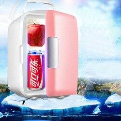 Podwójne zastosowanie cztery litry użytku domowego lodówki Ultra cichy niski poziom hałasu transport małe lodówki zamrażarka chłodzenie ciepła lodówka w Lodówki od AGD na