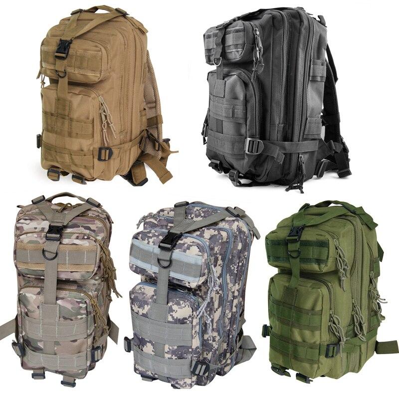 30L Outdoor Military Backpack Camping Hiking Trekking Bag - Black