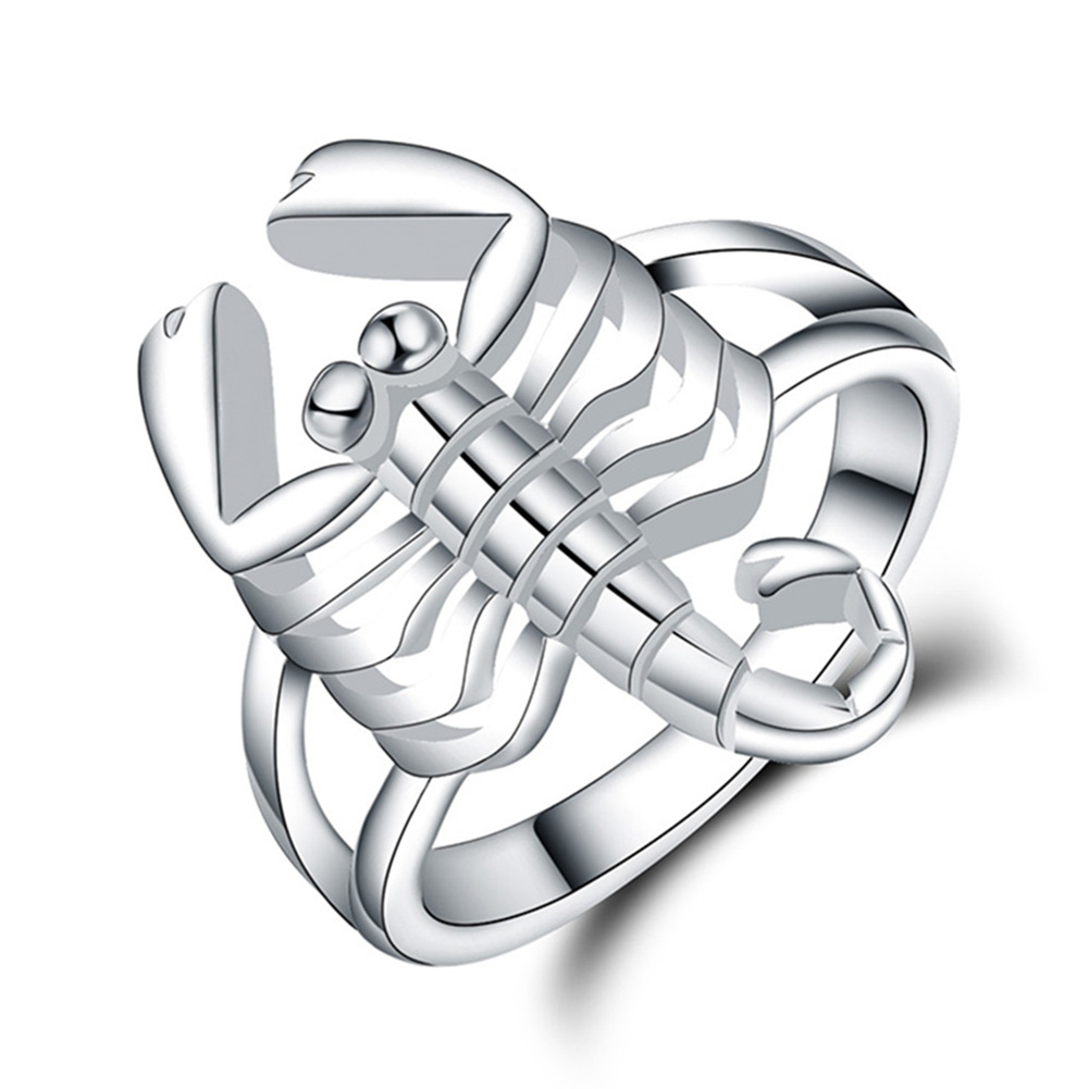 Scorpion shape Silver plated new design finger ring for
