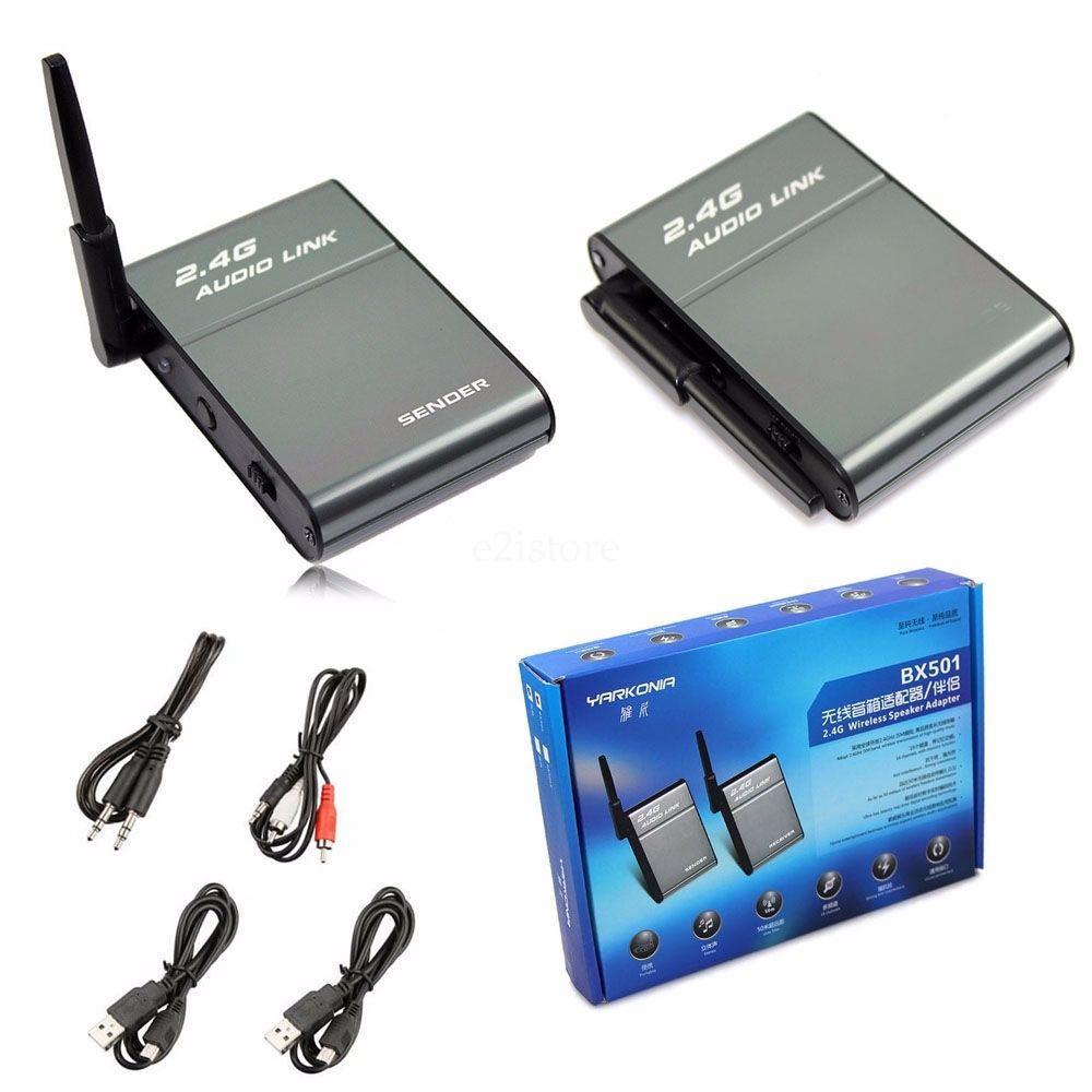 Vornehm Tragbare Universal 2,4g Ism Drahtlose Lautsprecher Hallo-fi Digital Stereo Audio Musik Sender Sender Funkadapter Empfänger Set 50 Mt Bx501