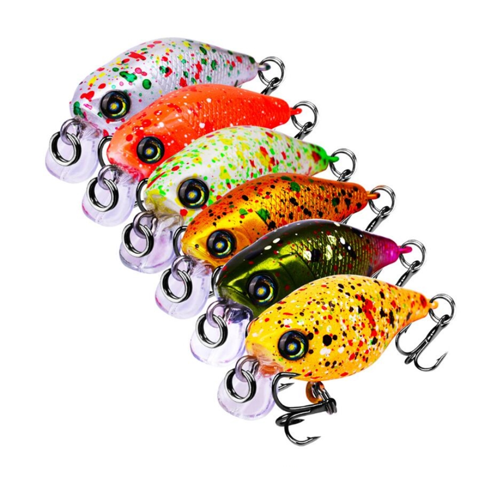 1Pcs/lot 46mm 4.5g Fishing Lures Hard Bait Minnow Fishing Lure Bass Crankbait Swimbait Trout Crank Baits With 12# Hooks Tackle