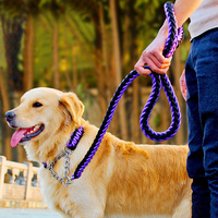 New Arriver High Quality Upgraded 15 Color Collar Stereotyped Rope Large Dog Leashes Pet Traction Rope