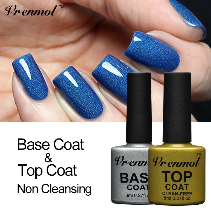 Vrenmol 8ml Non Cleansing Art Design Top Coat+Base Coat