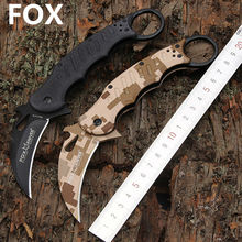 Hot Karambit Knife FOX Folding Knife 5Cr13 Blade G10 Handle Survival Knives Hunting Tactical Knifes Camping Outdoor Tools K89