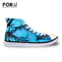 FORUDESIGNS/ Осенняя Женская парусиновая обувь с высоким берцем zapatos mujer модная обувь с перьями в виде животных на шнуровке Классическая Вулканизированная обувь