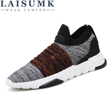 2019 LAISUMK Spring Shoes Men Breathable Summer Casual Shoes Men Comfortable Men Sneakers Free Shipping spring summer casual shoes for men new arrival ventilation fashion sneakers tourism comfortable breathable men s casual shoes