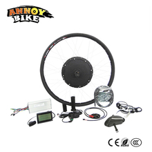 Annoybike 70 км/ч 48V1500W преобразования электрических комплекты 16 »/18»/20 »/24»/ 26 »/700c/28» заднего колеса комплект с ЖК-дисплей контроллер