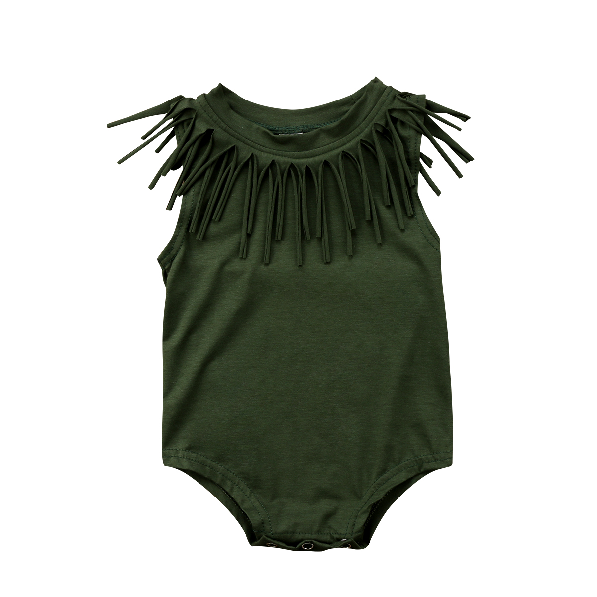 Baby Girls Clothes Toddler kid girls Vintage Tassel   Romper   Black/Army Green Jumpsuit Cotton Outfits Summer Baby Girls Clothing
