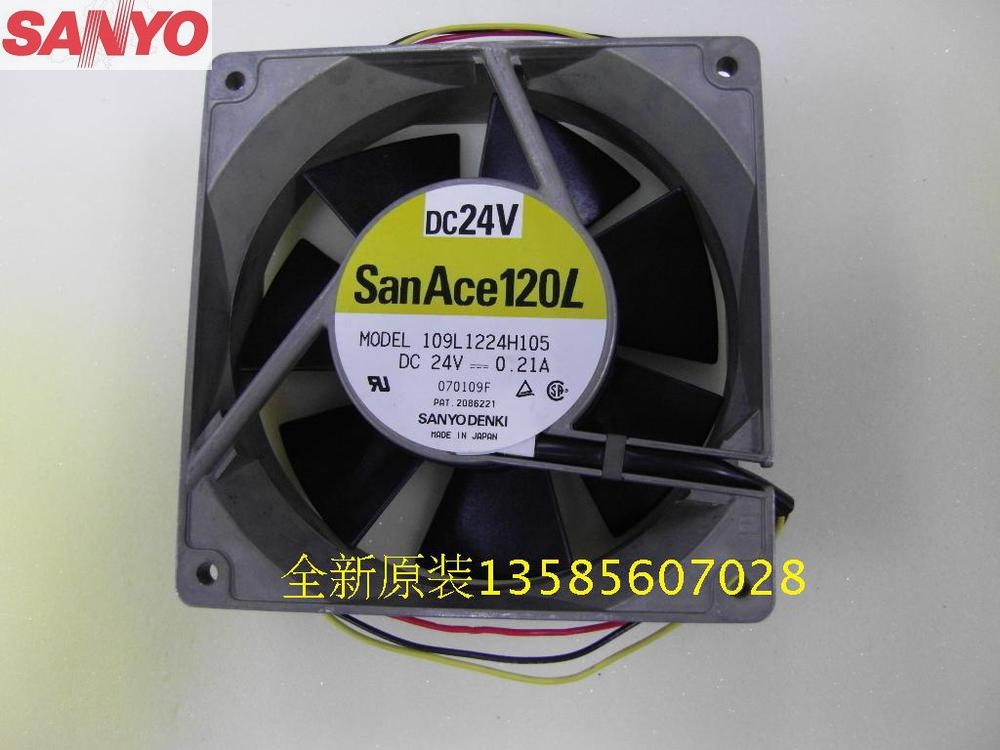 Original SANYO  Blowers 109L1224H105 1238 12038 24V 0.21A DC Brushless axial cooling fan delta 12038 12v cooling fan afb1212ehe afb1212he afb1212hhe afb1212le afb1212she afb1212vhe afb1212me