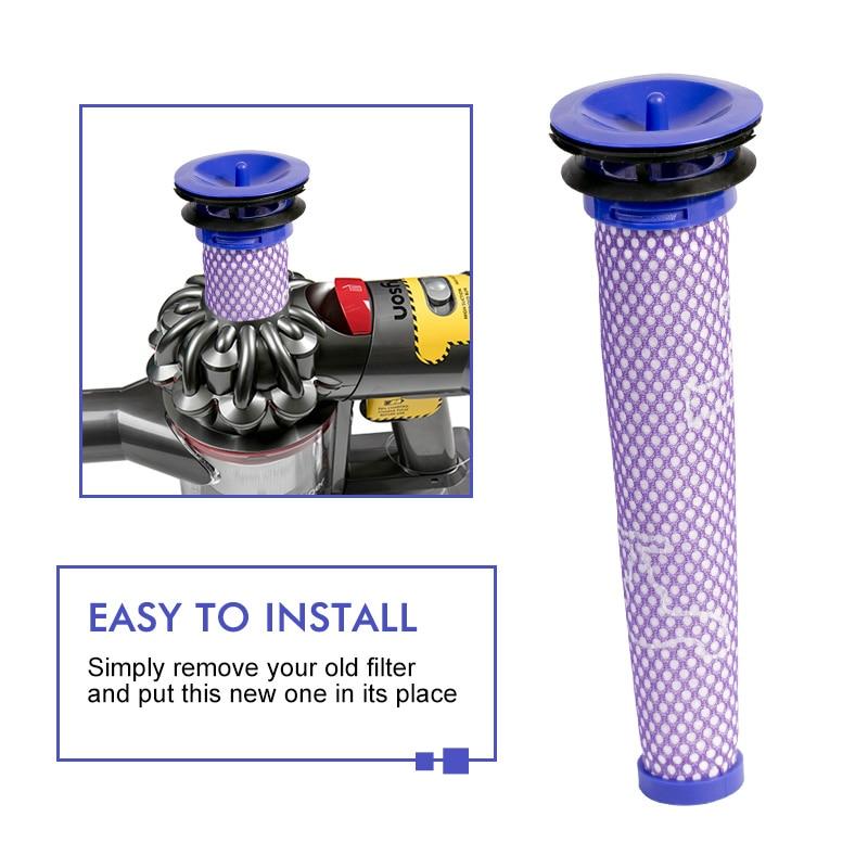 brosse en plastique r/éutilisable pour pi/èces de rechange pour aspirateur 6 pi/èces 1 brosse de nettoyage pour poussi/ère