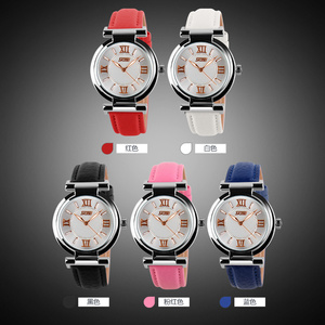 Image 5 - 2020 skmei 9075女性の腕時計防水レザーストラップファッションクォーツ時計の高級ブランド腕時計レロジオfeminino xfcs