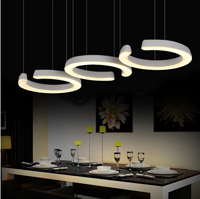 Simple Creative Circular Modern LED Pendant Lights Fixtures For Living Dining Room Hanging Lamp Indoor Lighting Lustres De Sala modern led pendant lighting home decoration indoor round hanging lamps fixtures for dining room living room hotel 44w d5070cm