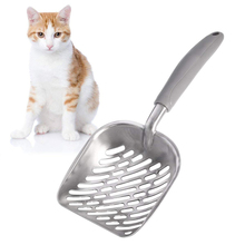 1PCS Cat Litter Scoop Thicken Aluminum Alloy Durable Kitten Sand Waste Shovel Practical Pets Poop Dog Cleaning Product