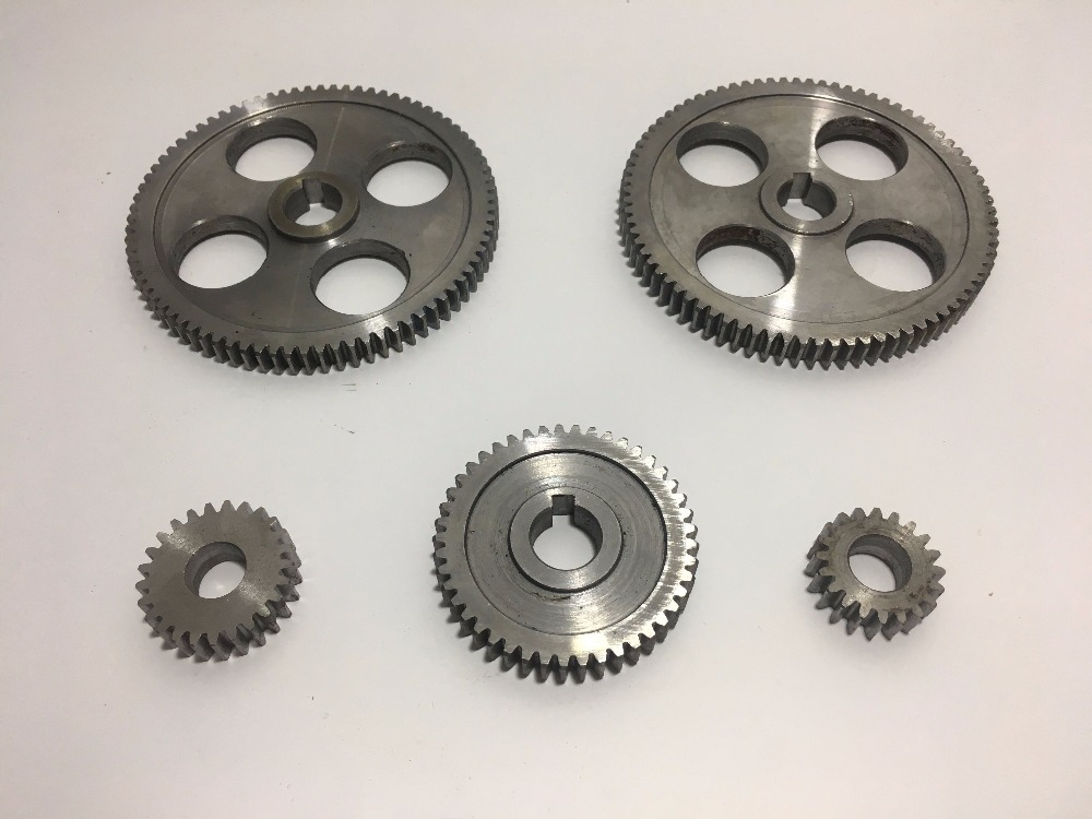 lathe gears CJ0618 18pcs set mini lathe gears Metal Cutting Machine gears