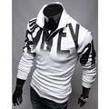 2017 Новый Бренд Мужчины Polo Shirt Mens Solid Polo homme Случайный с коротким рукавом Топы для Человека Полный Печати 100% Хлопок Плюс Размер C349
