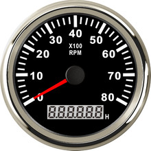 85mm Car Boat Tachometer With Hour Meter 6000RPM 8000RPM Tachometer Gauge Universal for marine boat yacht car motorcycle 1pc new type 0 8000rpm tachometer gauges modification 85mm lcd revolution meters 9 32v rev counters with hourmeter for auto boat