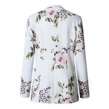 Высокое качество пиджак женская верхняя одежда мода тонкий универсальный с длинным рукавом с принтом Лучши�
