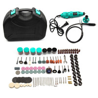 ZENHOSIT Electric Rotary Drill Grinder Kit Grinding Polishing Sanding Cutting Engraving Abrasives Tools Kit With Box
