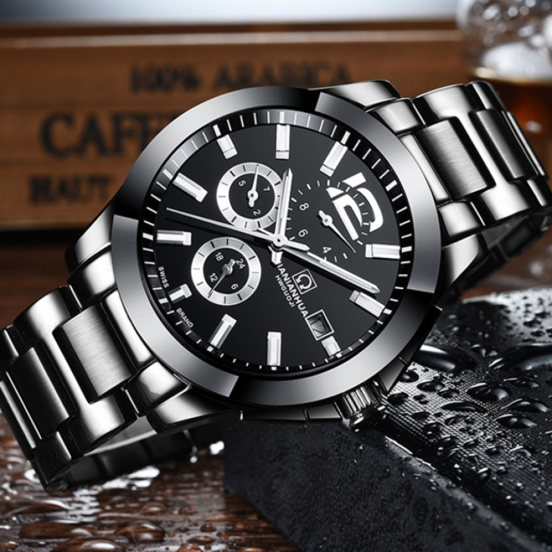 High End CARNIVAL Mens Automatic Mechanical Watches luxury Multifunction Watch Men Waterproof  Business Sport Watch Montre Homme