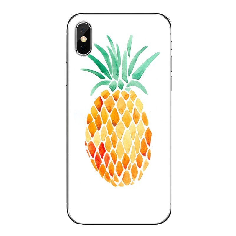 Cute Lovely Pineapple Fruit Iphone Wallpaper 2 Soft Cases Covers For iPod Touch iPhone 4 4S