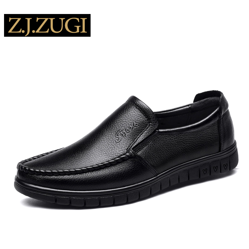 ZJZUGI 2018 New Comfortable Casual Shoes Loafers Men Shoes Quality Leather Shoes Men Flats Hot Sale 80663 top classic hot sale men shoes casual leather flats shoes men summer cool