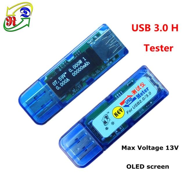 RD USB 3.0 H white 4 bit OLED detector USB voltmeter ammeter power capacity voltage current  tester meter power bank battery
