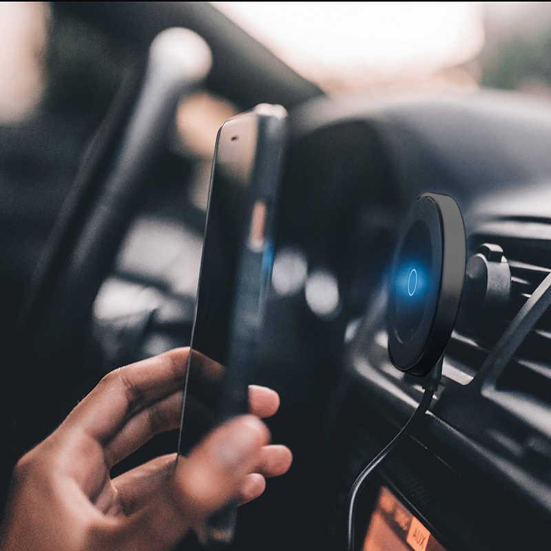Cargador de coche inalámbrico QI de carga rápida Carga inalámbrica magnética en el coche soporte magnético de 10W para el salpicadero del coche
