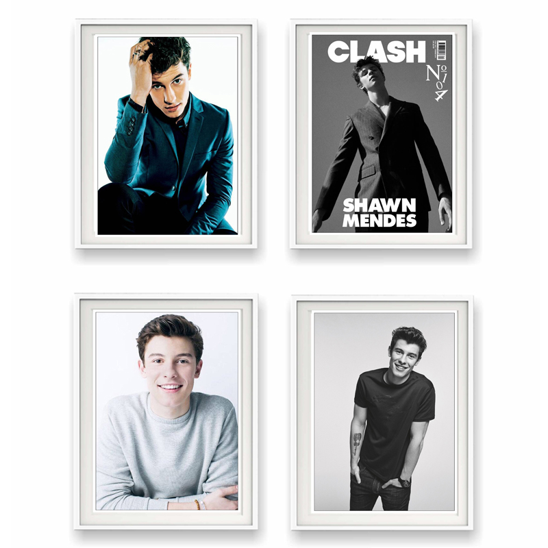 Us 236 18 Offshawn Mendes Singer Coated Paper Clear Image Painting Home Room Decor High Quailty Printing Wallpaper Modern Decoration In Wall